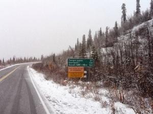 hwy sign alaska