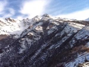 mountain snow sky alaska